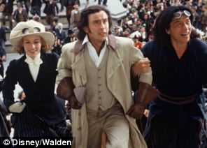 Travels: Steve Coogan (centre) as Phileas Fogg in Around the World in 80 Days with Cecile de France and Jackie Chan