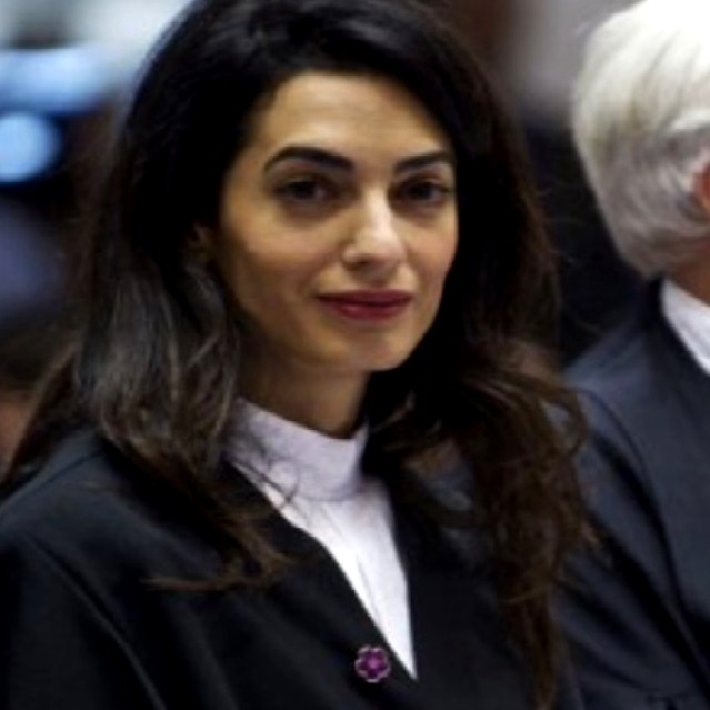 amal clooney with armenian pin