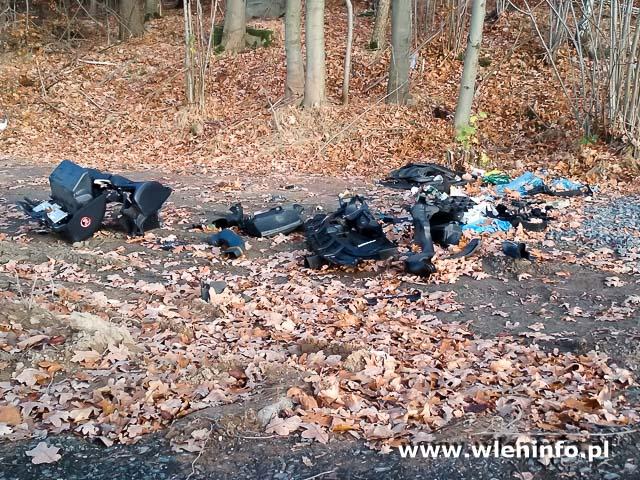 Hałda śmieci w Nielestnie