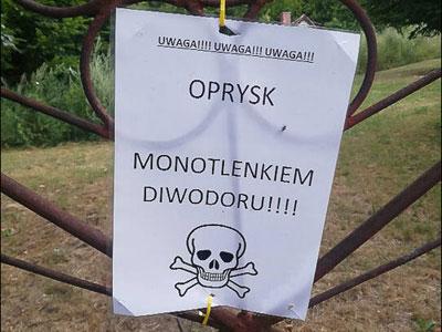 Uwaga! Niebezpieczne opryski