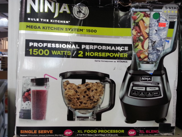ninja 1500 watt mega kitchen system reclaimed wood shelves pro with box the wholesale professional systemwholesale liquidation