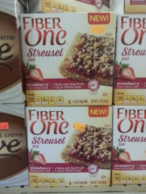 Fiber One Strawberry Streusel Bar is a sweet snack made with real fruit and whole grains to help maintain your healthy summer figure! A box of 5 is only $1.99!