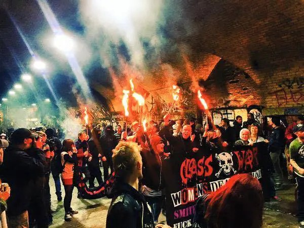 Londres: Manif et action anti-gentrification