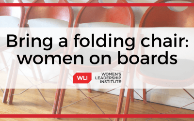 Bring a folding chair: women on boards