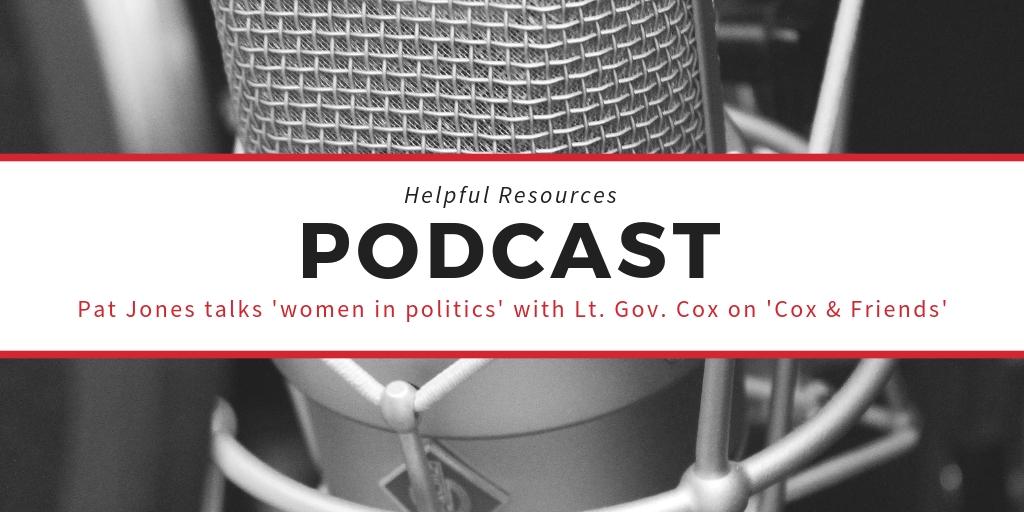 Podcast: Pat Jones talks about women in politics