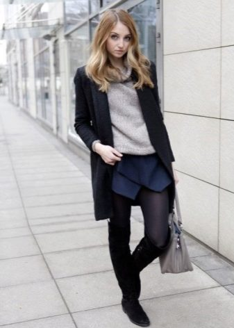 How to wear a sweater and skirt? 24