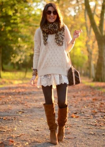 How to wear a sweater and skirt? 29