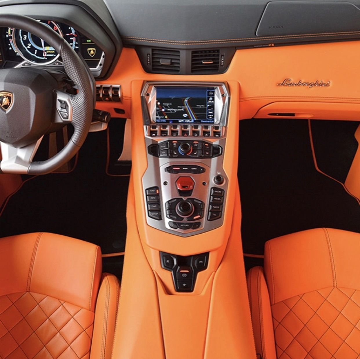 New An Orange Leather Interior From A Lamborghini Aventador On This Month