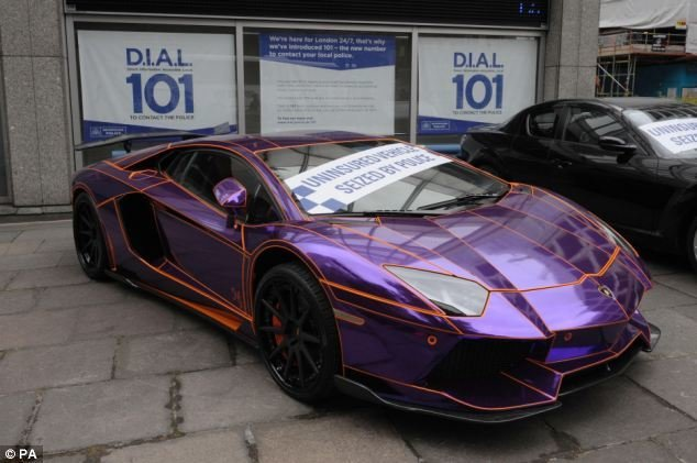 New Glow In The Dark Lamborghini Aventador Is Ticketed In On This Month