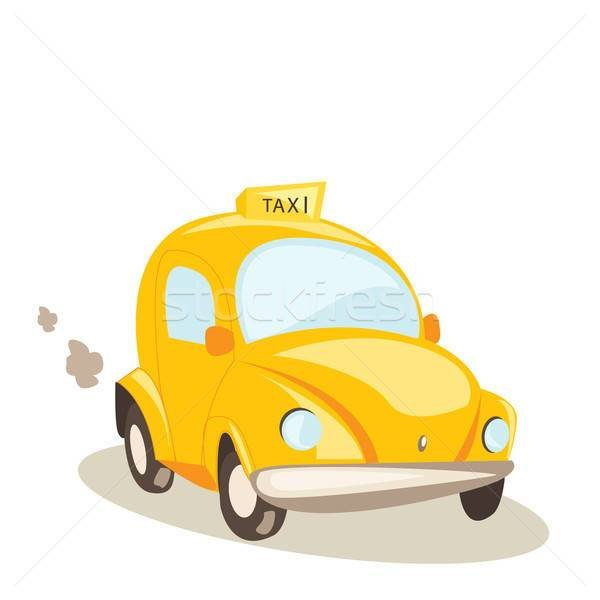 New Yellow Taxi Car Vector Illustration Vector Illustration On This Month