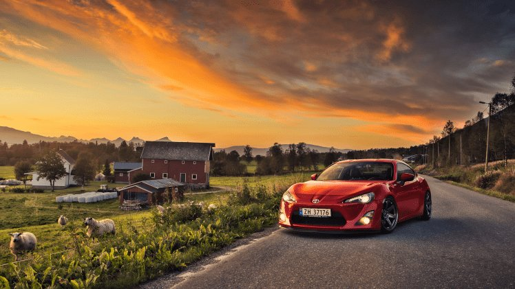 New Toyota Toyota Gt86 Gt86 Car Sunset Red Cars Sheep On This Month