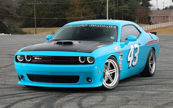New Download Wallpapers Dodge Challenger Light Blue On This Month