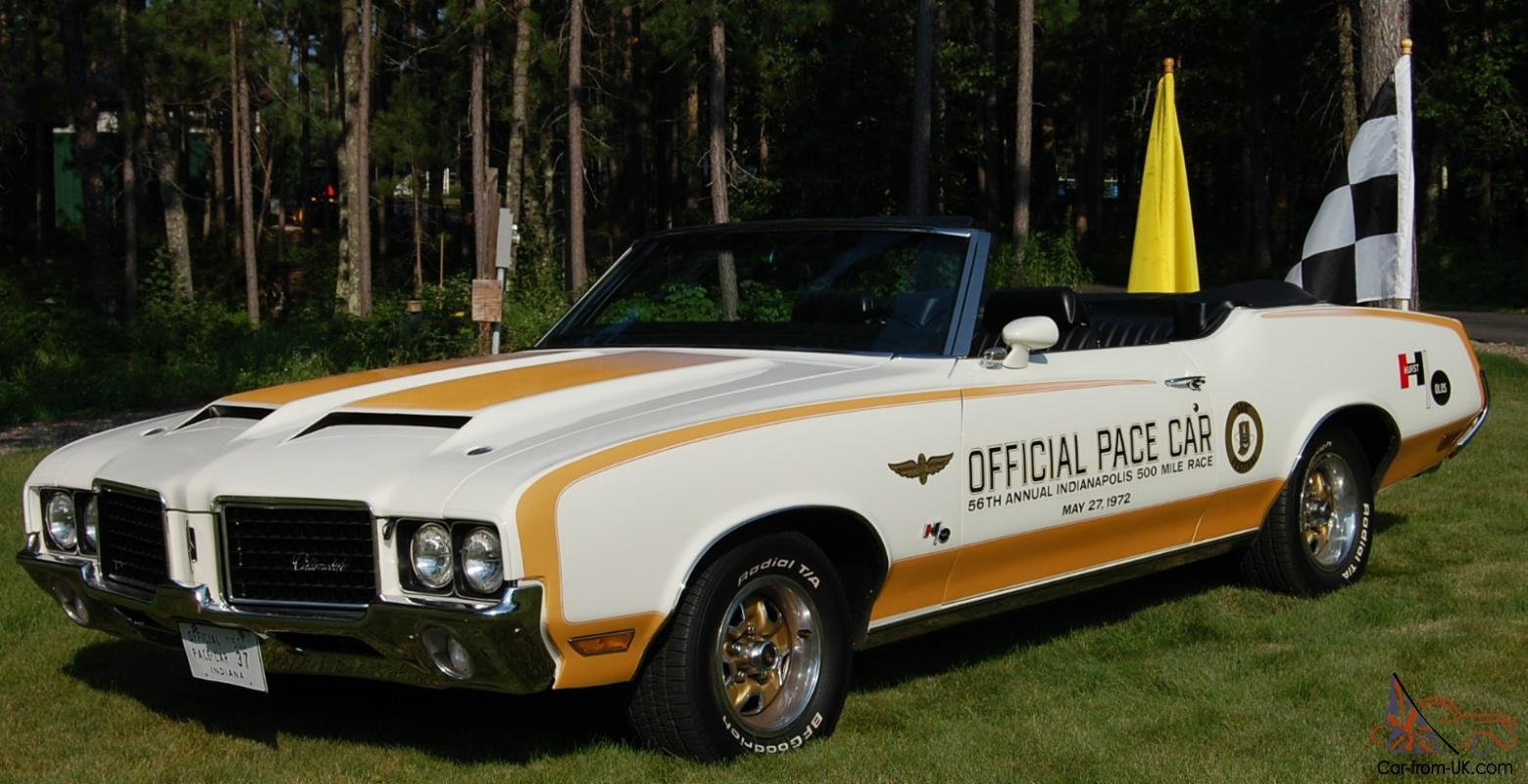 New 1972 Hurst Olds W 45 Pace Car Convertible On This Month