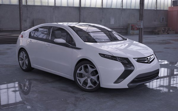 New Car Opel Ampera 3D Max On This Month