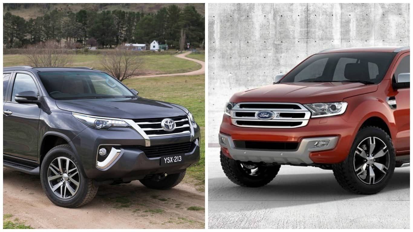 New 2016 Toyota Fortuner Vs 2016 Ford Endeavour Comparison On This Month