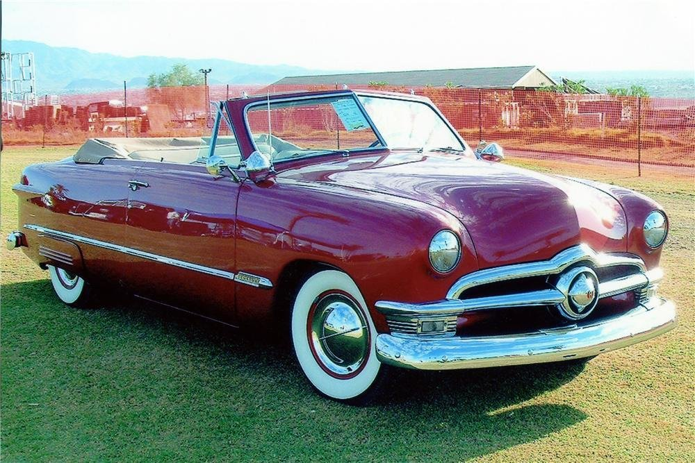 New 1950 Ford Custom Convertible 137730 On This Month Original 1024 x 768