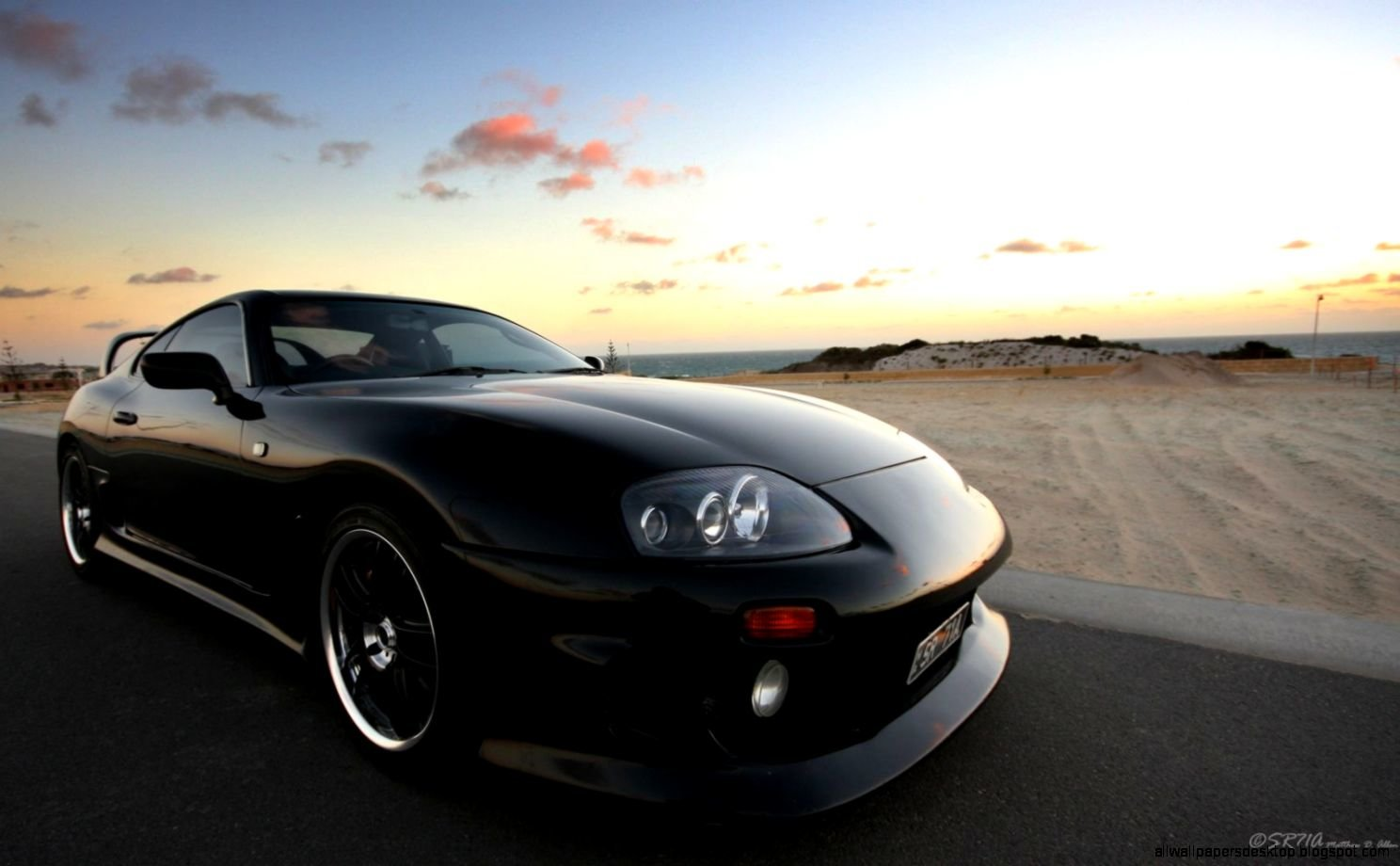 New Toyota Supra Black Car Hd Wallpaper All Wallpapers Desktop On This Month