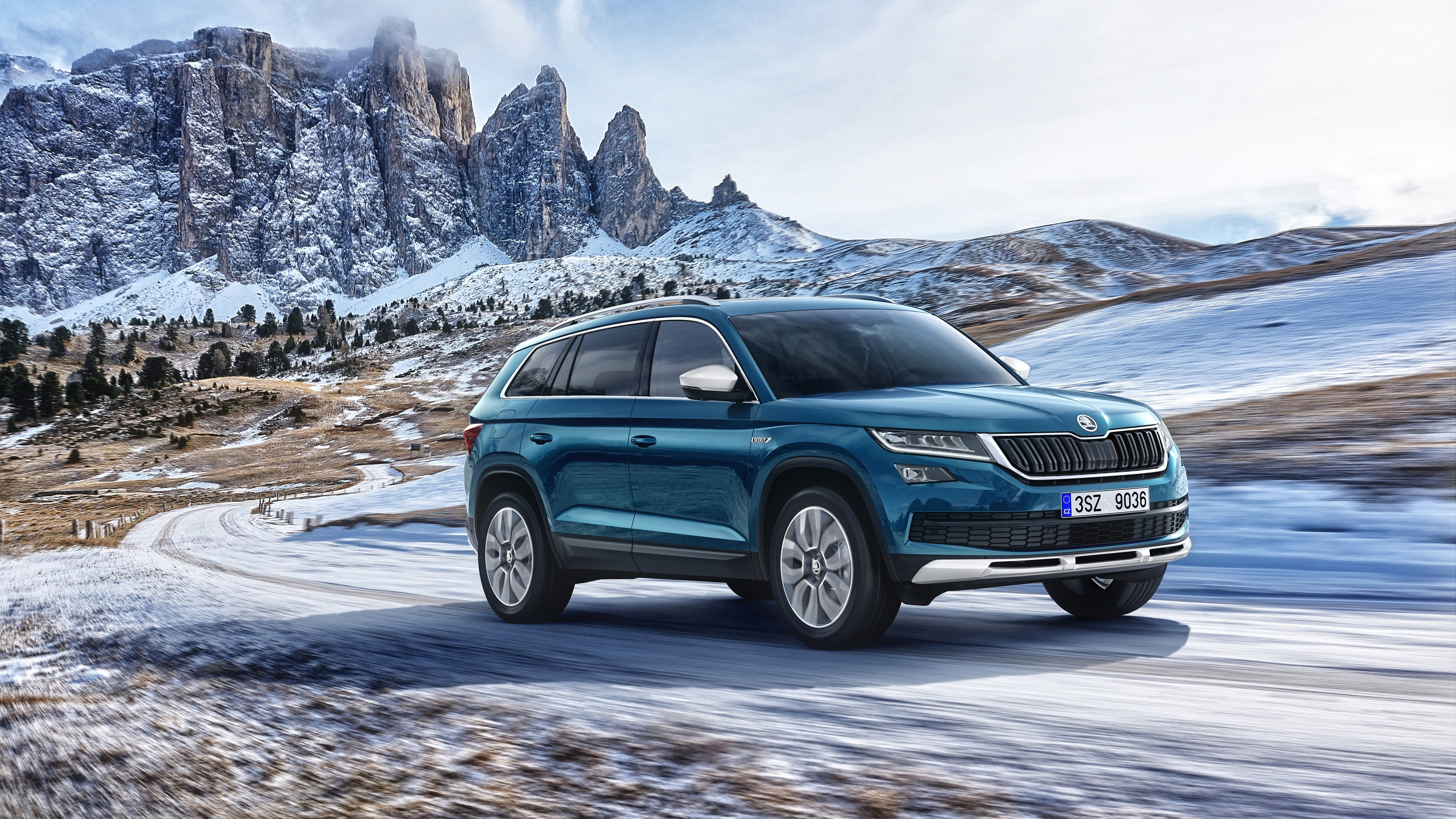 New 2017 Skoda Kodiaq Scout 4K Wallpaper Hd Car Wallpapers On This Month