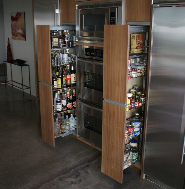 Pullout pantry  WL Rubottom Cabinets Co