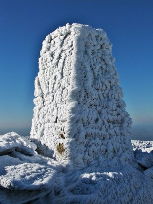 Trig pillars are in pretty exposed spots: To celebrate the 80th anniversary of the trig pillar, some of Ordnance Survey's #GetOutside champions have nominated their favourite trig pillar and written an accompanying walk for others to follow. Dave Roberts' walk takes in Foel-fras, Wales' 11th highest peak. As Dave's photo shows – it can get pretty cold out on the mountains and people should check conditions and carry the right equipment before tackling their trig pillar walks.