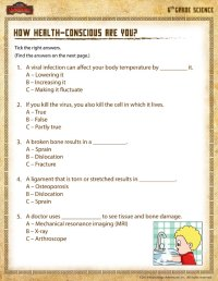 How Health-conscious are you? View  6th Grade Science ...