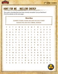Hunt for Me - Nuclear EnergyView  5th Grade Science ...