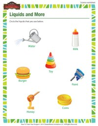 Liquids and More Worksheet | Free Printable 1st Grade ...