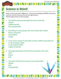 Science is Weird View  Science Worksheet and Printable ...
