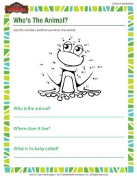 Whos the Animal? | Printable Science Worksheet for 1st ...