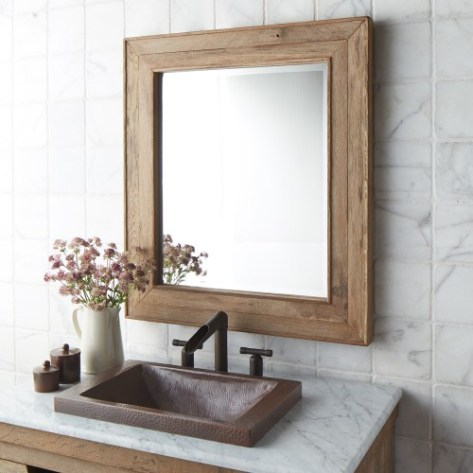 Frame Your Bathroom Mirror