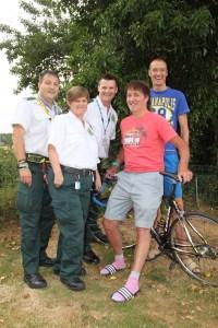 Cardiac Arrest victim back on his bike