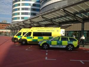 Ambulances at QEHB