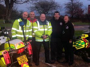 Emergency Biker 'Flymo' becomes Blood Bike Patron in Devon