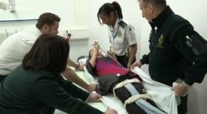 Christine is transferred into hospital
