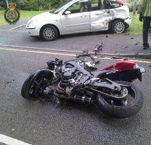Motorcycle v car in Penn