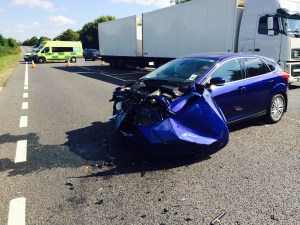 woman airlfited from a46 collison 2