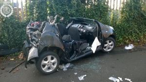 Car and bus collide in Tipton 2