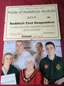 COMMUNITY FIRST RESPONDERS THE PRIDE OF REDDITCH