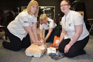 Defibrillator at British Ironworks, Oswestry