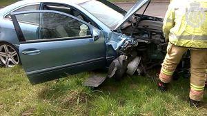 Man cut free from Himley Crash 1
