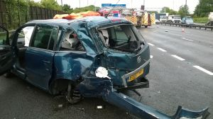 TWO HGVS AND CAR INVOLVED IN M6 RUSH HOUR COLLISION 2