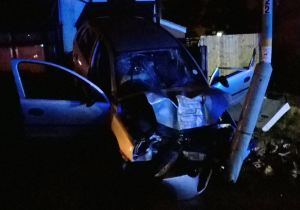 Car lands on parked car in Birmingham