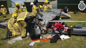 Light aircraft crash landing at Shifnal Airfield 2