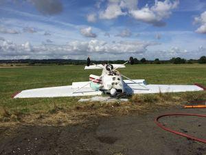 Light Aircraft crash at Wolverhampton Halfpenny Green Airport 16-08-15