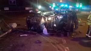 Man taken to major trauma centre after car overturns in Oldbury 1 17-08-15