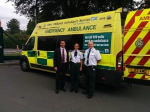 Nigel Huddleston MP visits ambulance hub 2