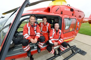 Pride of Britain. RAF Cosford - West midland Ambulance service. Three medics saved the life of Leah Washington who was bleeding to death on the Alton Towers ride. Major Dave Cooper, Critical care paramedic Tom Waters and Doctor Ben Clark.