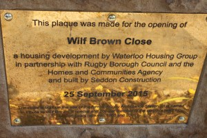 Street is named after former Leading Ambulanceman Wilf Brown
