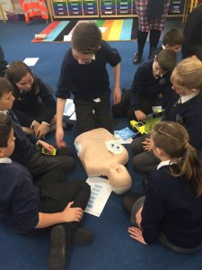Girls inspired by lifesaving lessons