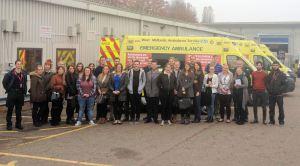 Staffs Uni Students at Tollgate (3-11-15)